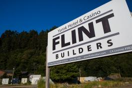 Flint Builders Sign at Yurok Casino & Hotel